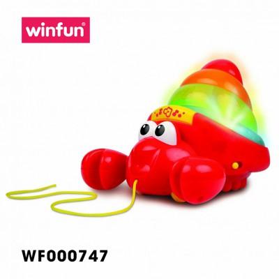 Đồ chơi kéo kết hợp tháp xếp chồng hình con cua Winfun 0747