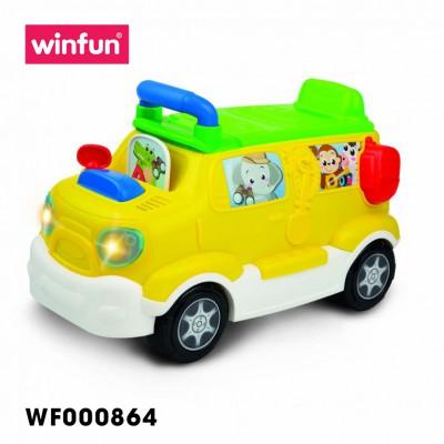 Xe tải chòi chân kèm bộ sưu tập động vật hoang dã có nhạc Winfun 0864