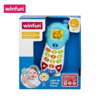 Điện thoại đồ chơi di động, nhiều hiệu ứng âm thanh thú vị kết hợp dạy học số cho bé Winfun 0619