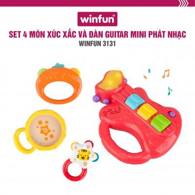 Bộ 3 xúc xắc và đàn Guitar mini cầm tay phát nhạc Winfun 3131