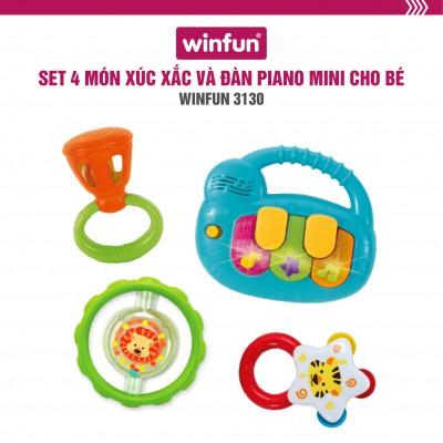 Bộ 3 xúc xắc và đàn Piano mini cầm tay phát nhạc Winfun 3130