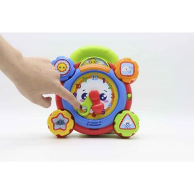 Đồ chơi giáo dục sớm cho bé - Đồng hồ giúp bé học giờ và nhận biết hình khối, có đèn nhạc Winfun 0675