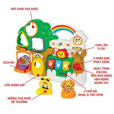 Winfun 0786 - Ngôi nhà trên cây có nhạc và tiếng kêu động vật kết hợp thả hình khối