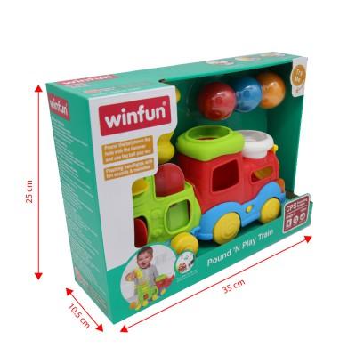Đầu tàu hỏa kéo dây và đập bóng Winfun 0780 - Đồ chơi vận động, luyện tay