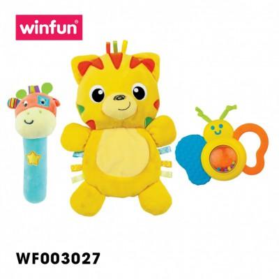 Set 3 đồ chơi cầm tay xúc xắc chíp chíp hổ gặm nướu sột soạt Winfun 3027