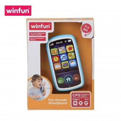 Đồ chơi điện thoại thông minh cho bé, hiệu ứng âm thanh vui nhộn, có thể ghi âm Winfun 0740