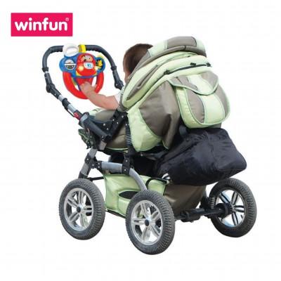Vô lăng đồ chơi mô phỏng lái xe cho bé có hiệu ứng đèn nhạc, âm thanh Winfun 0684