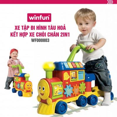 Tàu hỏa tập đi 2 trong 1 WinFun Hong kong 0803-NL