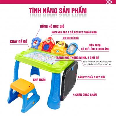 Bộ bàn ghế hỗ trợ học tập và vui chơi cho bé, nhiều hiệu ứng và bài học hấp dẫn Winfun 1207