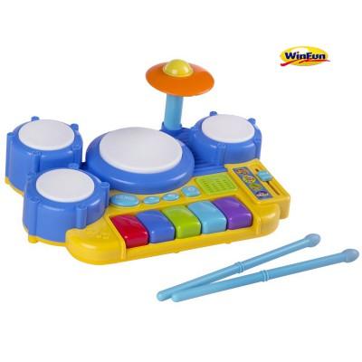 Bộ trống và phím nhạc sôi động