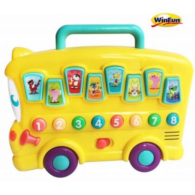 Xe bus dạy bé học số và nhận biết con vật Winfun - 0676