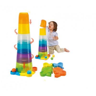 Tháp cốc xếp chồng bằng nhựa